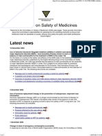 committee on safety of medicines home page