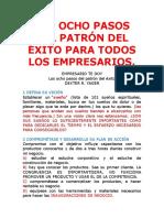LOS OCHO PASOS DEL PATRÓN DEL ÉXITO PARA TODOS LOS EMPRESARIOS