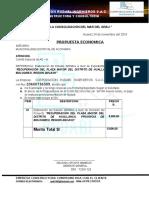 Carta de precentacion de expediente tecnico