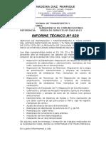 Informe Reparacion Cota Cota