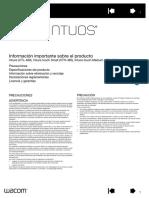 Información Importante Sobre El Producto Intuos
