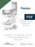 Cartell Concert Nadal 16