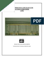 ASR Commissioning Checklist