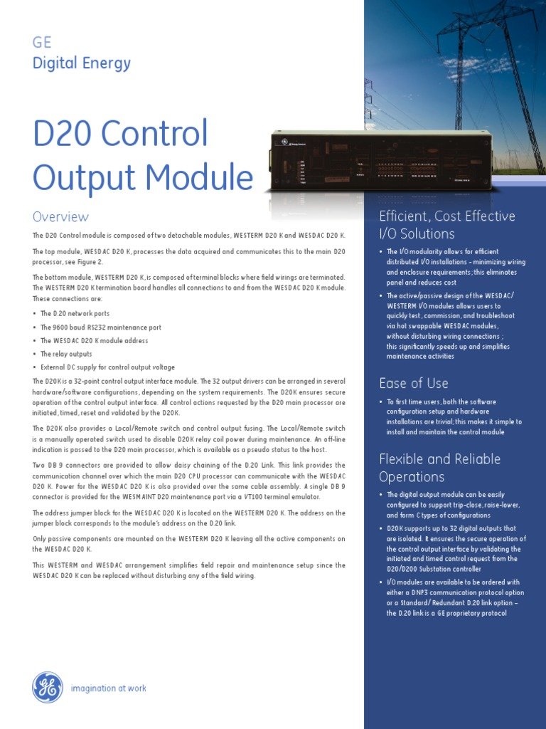 D20 Control Output Module Relay Electricity Electric Cost