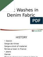 01. Basic Washes in Denim Fabric