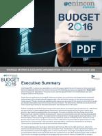 India Budget Analysis 2016_enincon