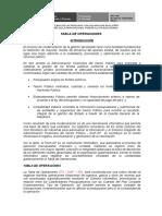Tabla de Operaciones Contabilidad Gubernamental