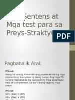Mga Sentens at Mga Test Para Sa Preys-Straktyur