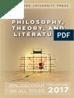 Philosophy and Literature 2017 catalog