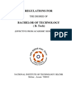 B Tech Regulations NITS 2012 New