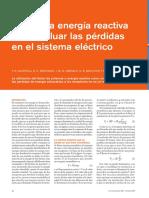 Energia Reactiva Para Evaluar Perdidas en El Sistema Electrico