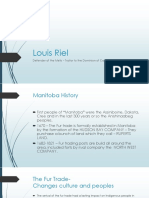 louis riel - backstory short version