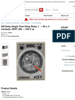 H3Y-4 AC200-230 30S _ ON Delay Single Time Delay Relay, 1 → 30 s, 4 Contacts, 4PDT, 200 → 230 V ac _ Omron.pdf