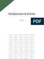 Multiplication & Division Drills
