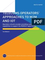 Analysys Mason Telecoms Operators Approaches to M2M and IoT