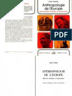 Geipel John. Anthropologie de l'Europe. Histoire Ethnique Et Linguistique. Laffont 1969