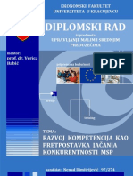Diplomski rad - RAZVOJ KOMPETENCIJA KAO PRETPOSTAVKA JAČANJA KONKURENTNOSTI MSP