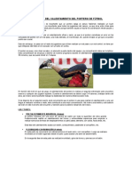 7 Fases Del Calentamiento Del Portero de Fútbol