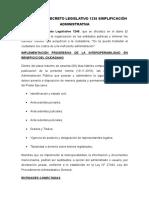 Análisis Del Decreto Legislativo 1226 Simplificación Administrativa
