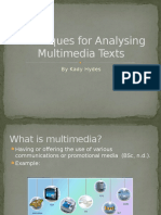 techniques for analyzing mutimedia texts  1