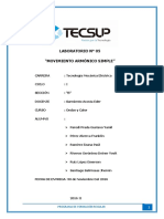 Informe de 5 movimiento armónico simple - tecsup