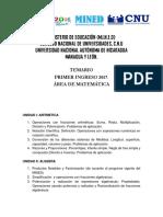 Temario de Matematica 2017