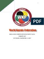 WKF Reglas Competición 2017