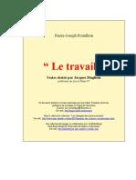 (Bibliothèque Identitaire) Proudhon - Le Travail (1962) - eBook FR Socio.science-Politique