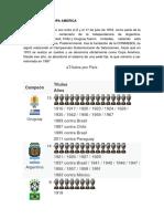 Historia de La Copa America