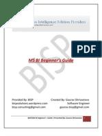 MS BI Beginner's Guide