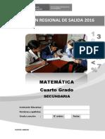 4to Grado-evaluación de Salida-matematica