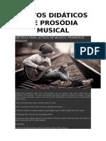 Textos Didáticos de Prosódia Musical