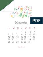 Calendario Diciembre