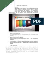 Temas de La Exposicion Ing Software II 01 Novimbre