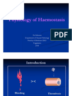 Physiology of Haemostasis PPDS I 2008