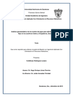 Análisis Geoestadístico de Los Niveles Del Agua Para Definir Direcciones de Flujo en Los Acuíferos Calera y Chupaderos, Zacatecas