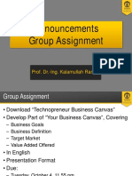 6 - Announcements and Group Assignment
