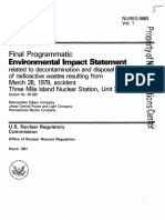 NUREG-0683, Vol. 1, PEIS-Decontamination and Disposal of Radioactive Wastes Resulting From TMI-2 (1981-03)