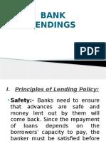 Bank Lendings