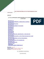 Ley de Empresas Unipersonales