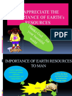Variety of resources on earth