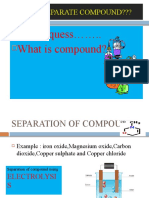 separation of  Mixtures and compound
