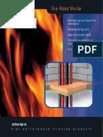 Fire Stop Mortar COC & Catalogue