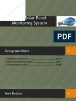 Smart Solar Panel Monitoring System