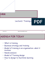 HRM - Lecture 1 - Training & Development