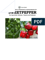 Tropica Seeds - Technical Guide on Sweet Pepper Cultivation