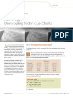 Radiology Developing Technique Charts