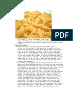 Type of Pasta