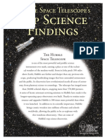 Hubble Space Telescope's Top Science Findings