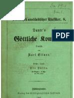 Dante Alighieri Göttliche Komödie von Karl Eitner